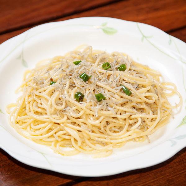 青唐辛子とチリメンじゃこのスパゲティ